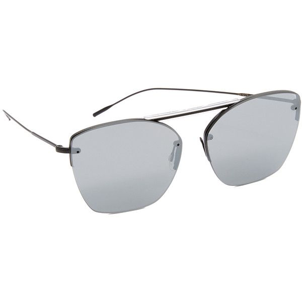074d981c1bf Oliver Peoples Eyewear 30th Anniversary Zaine Mirrored Sunglasses (507 AUD)  ❤ liked on Polyvore