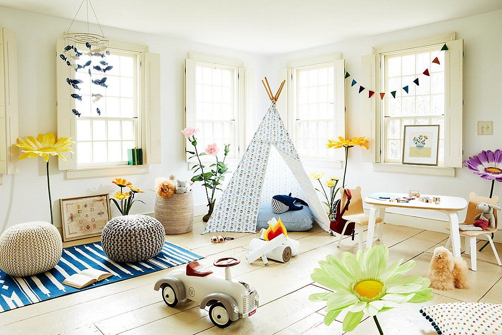 Best Our Favorite Stylish Ideas For Kids' Playrooms Playroom 400 x 300