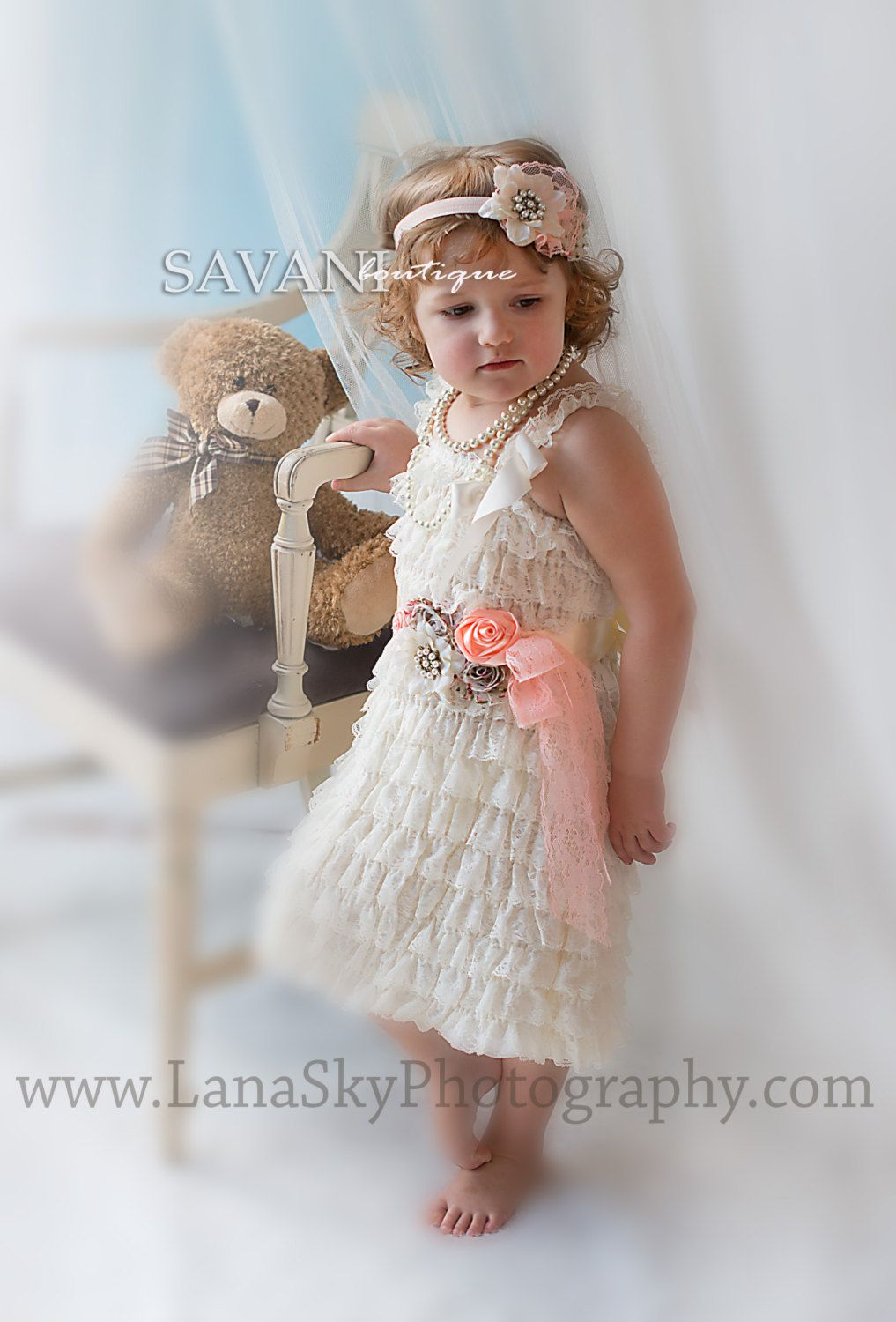 Lace dress for baby girl  Flower girl dressGirl lace dresses  pieces by SAVANIboutique