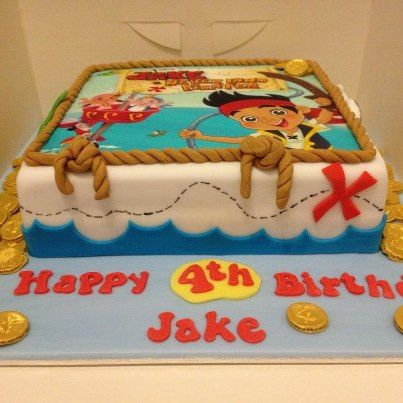Phenomenal Jake And The Neverland Pirates Birthday Cake Google Search Boy Funny Birthday Cards Online Inifodamsfinfo