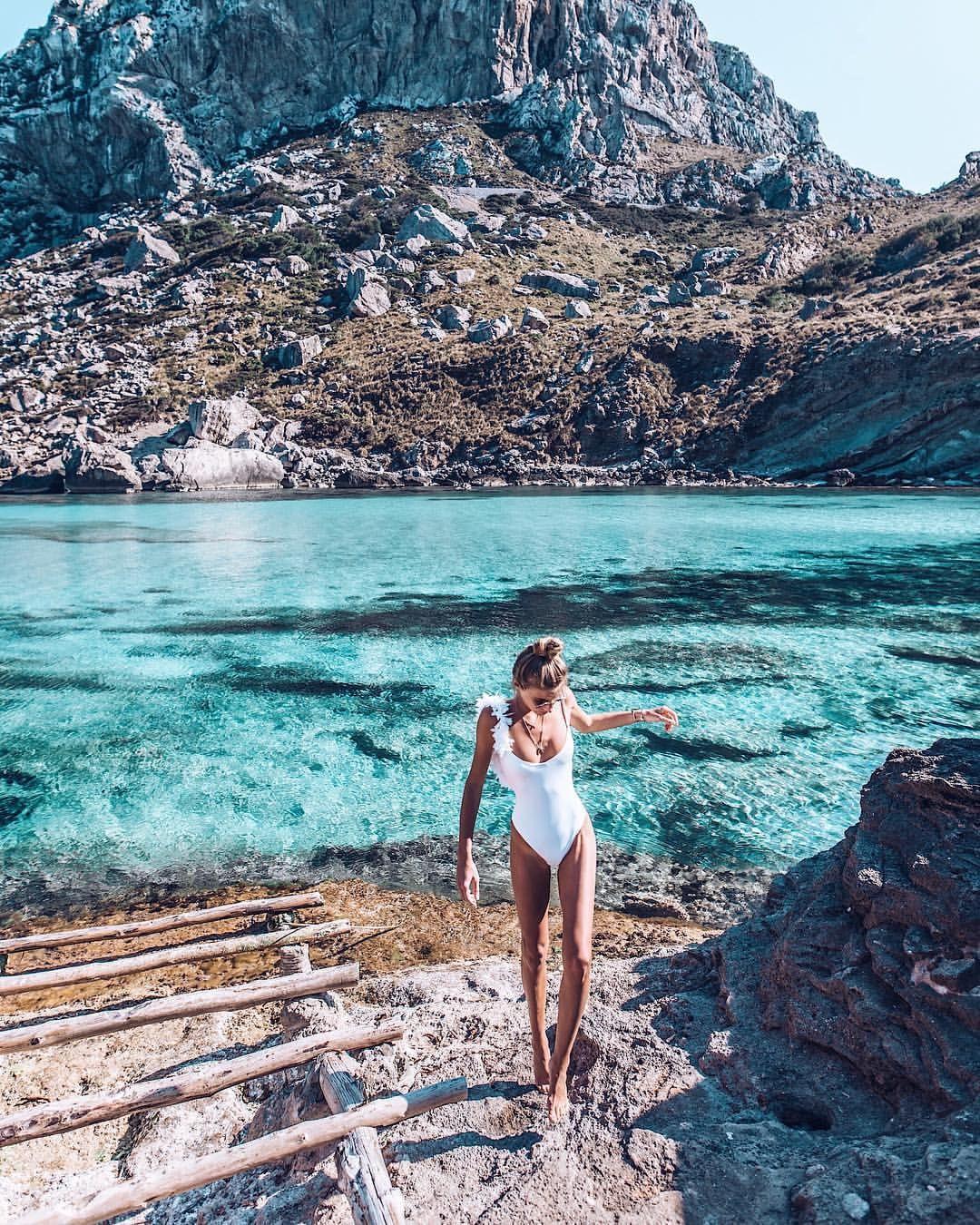 "Debi Flügge | Vegan Diet (@debiflue) on Instagram: ""days like these we felt adventurous and found a beautiful hidden bay which we had just for…"""