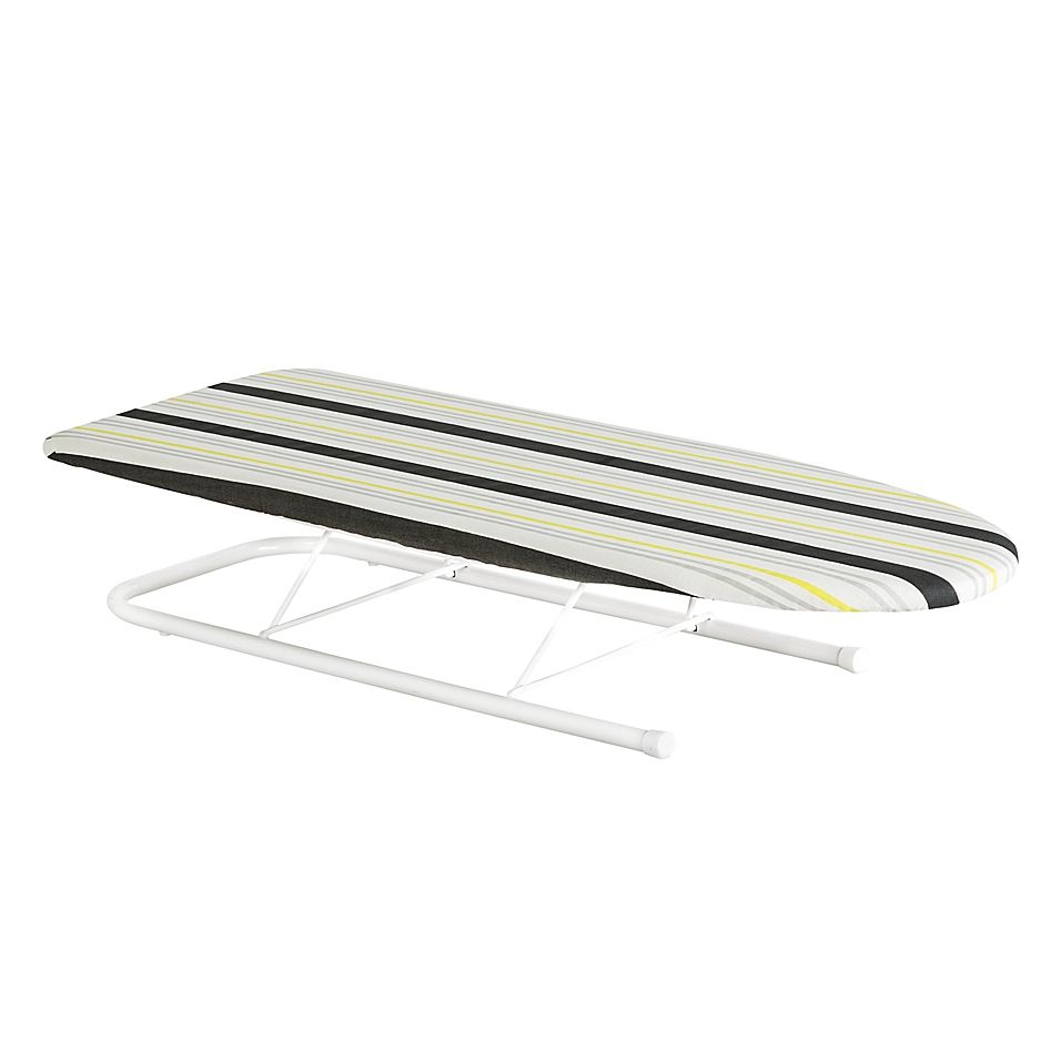 Honey Can Do Tabletop Wood Ironing Board In Stripes White Wood