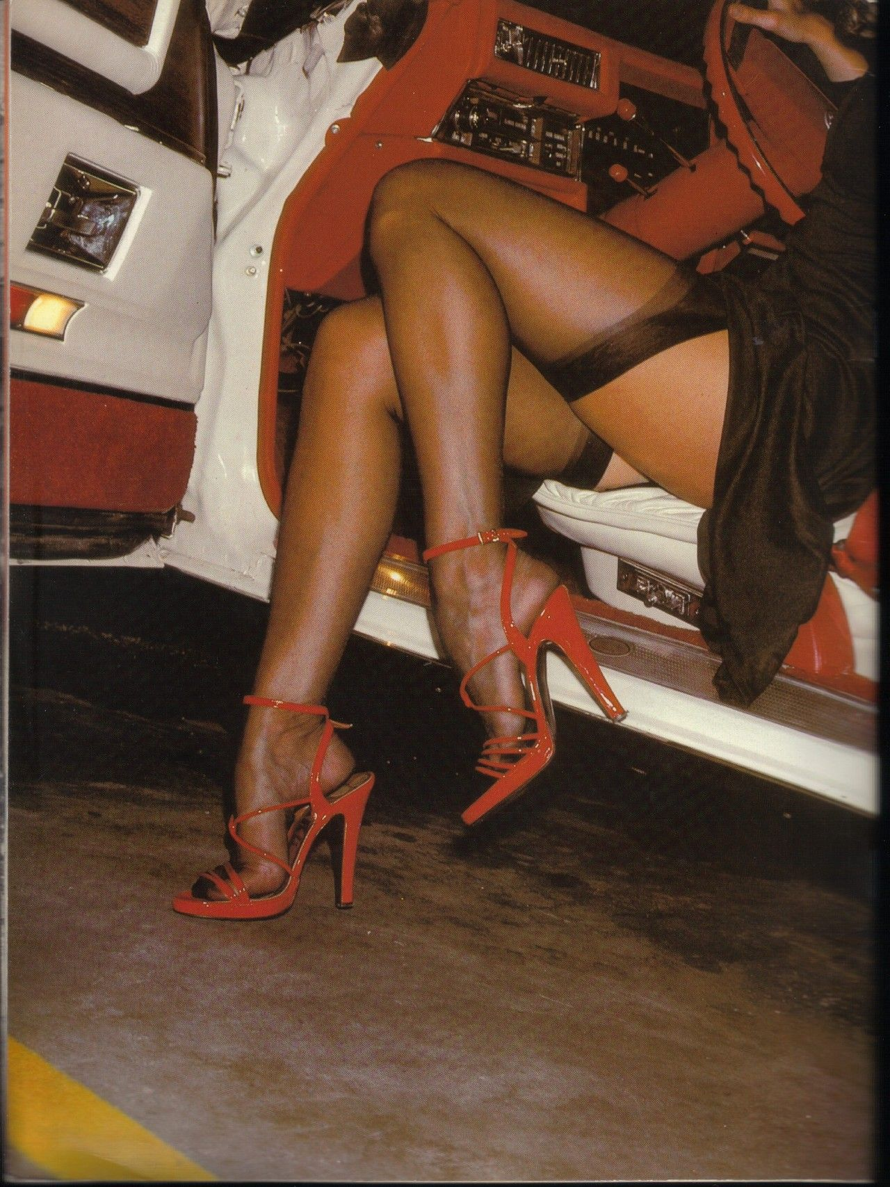 Vintage stockings high heels