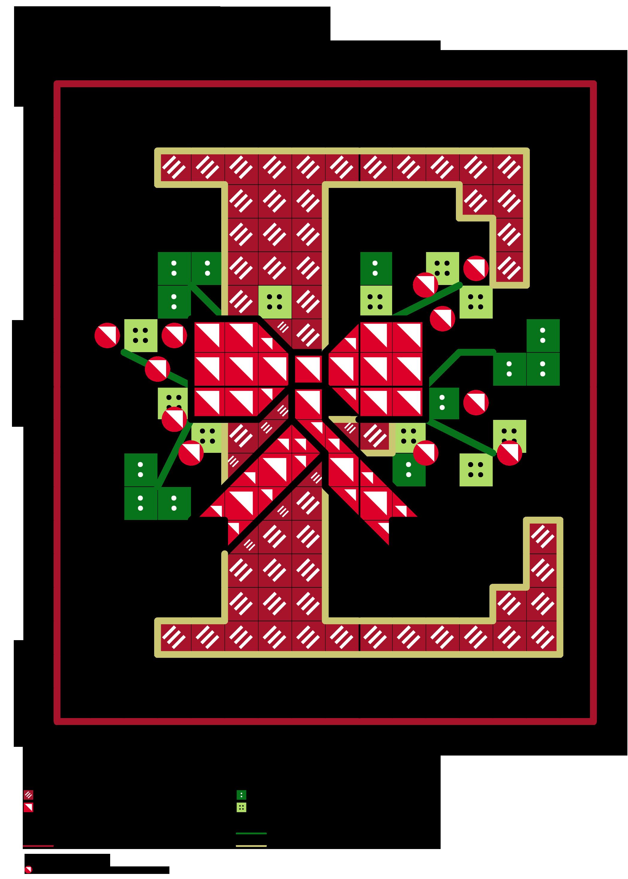 Alfabeto dei fiocchetti natalizi e alfabeti a punto for Ricamo punto croce alfabeto