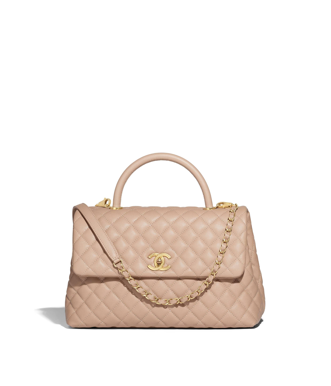 c30c9cf6a405 Calfskin   Gold-Tone Metal Yellow Small Flap Bag with Top Handle ...