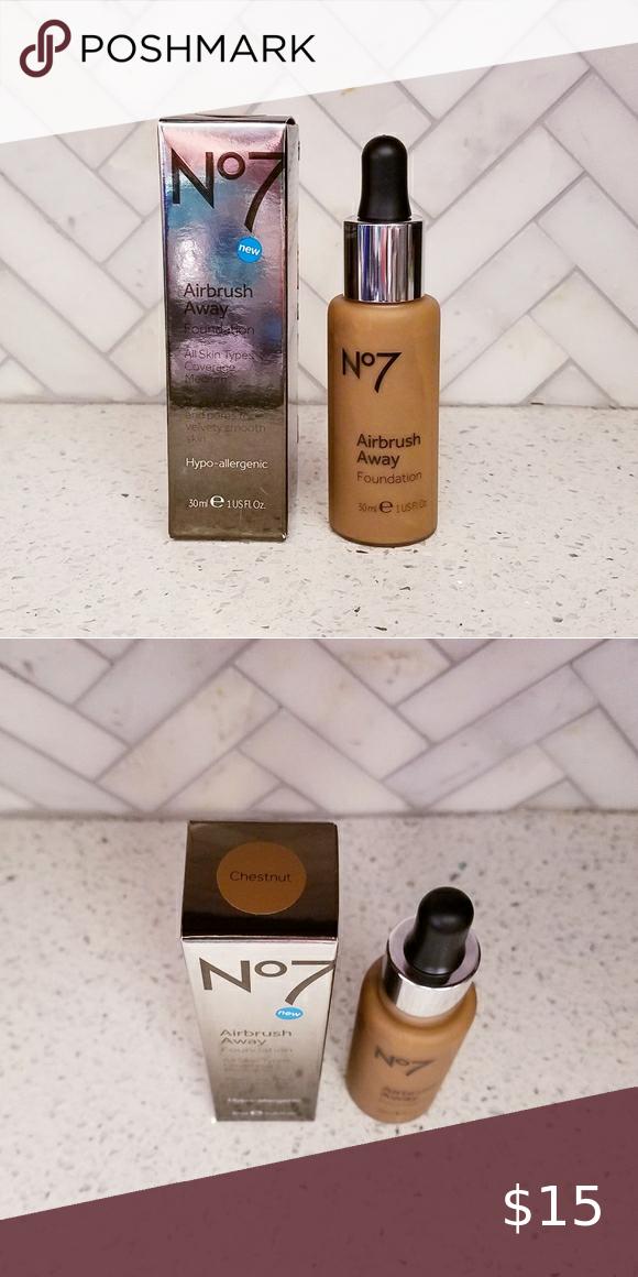 Nib Boots No7 Chestnut Airbrush Away Foundation Nwt In 2020 No7 Makeup Foundation No7 Boots No7