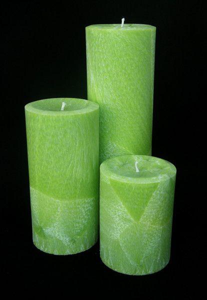 Kerzen Stumpenkerzen 24 16 10 Grun Duftwachs Gratis Ein