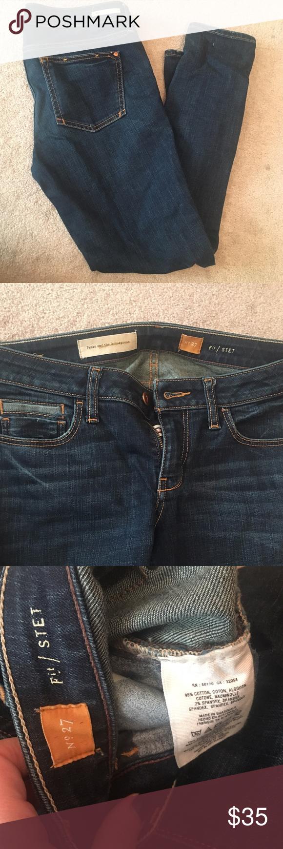Anthropologie jean Pilcro straight leg jean. Size 27. Worn twice Anthropologie Jeans