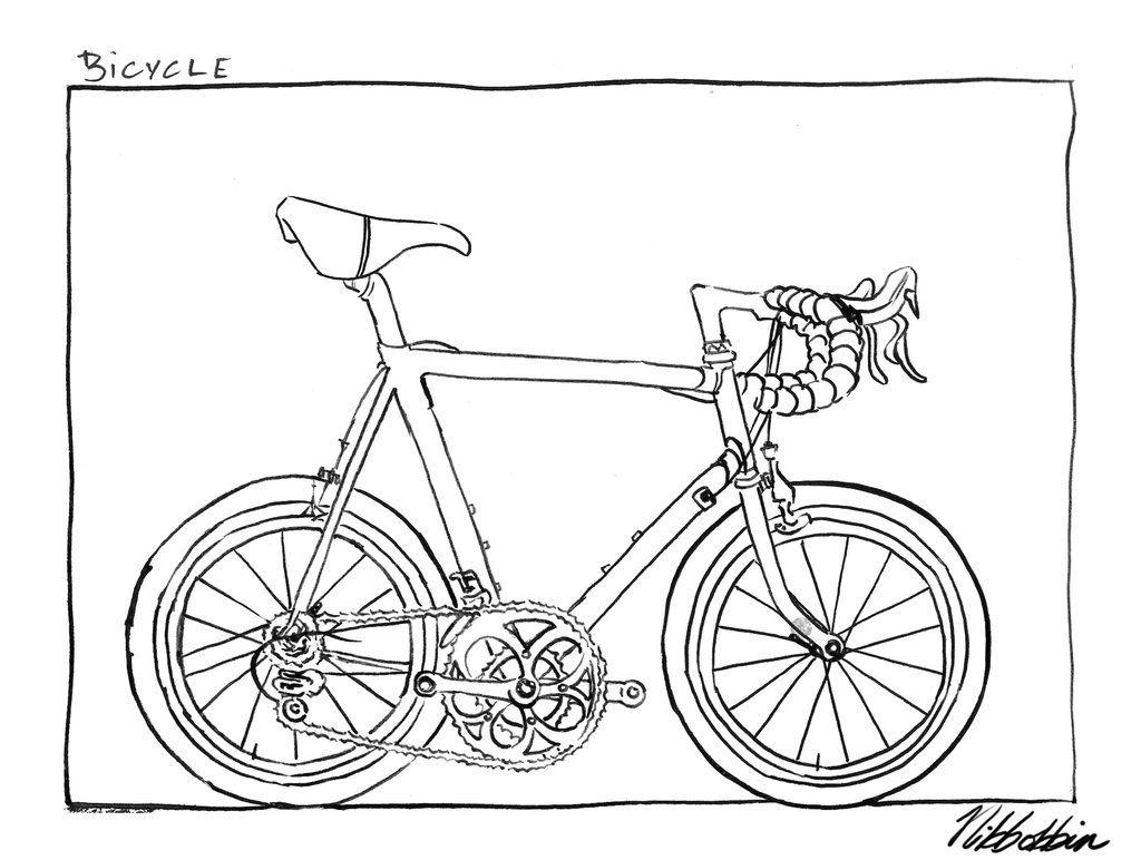 Inktober Bicycle by nibbobbinviantart on DeviantArt