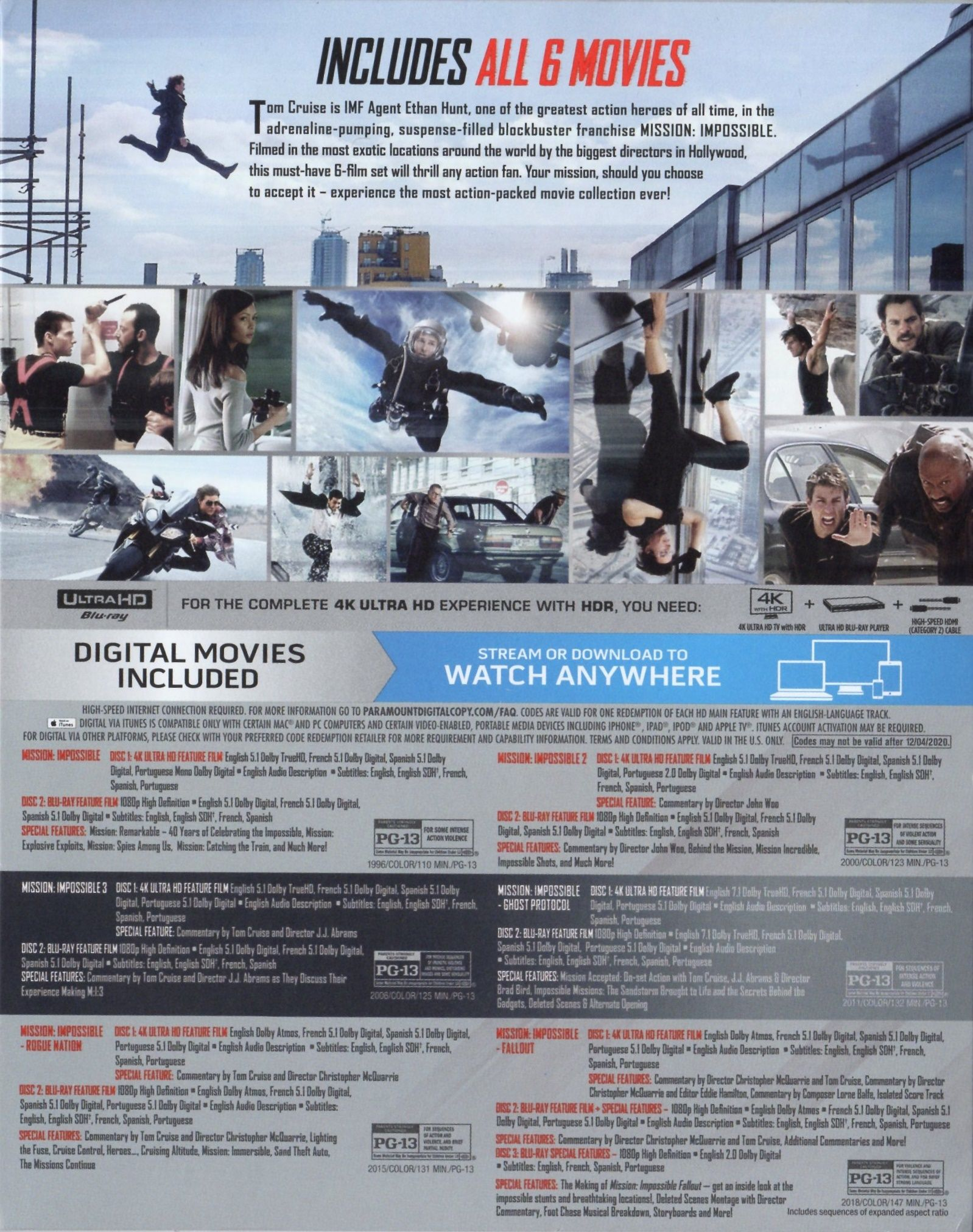 Mission Impossible   18 Movie Collection 18K Blu ray Release Date ...