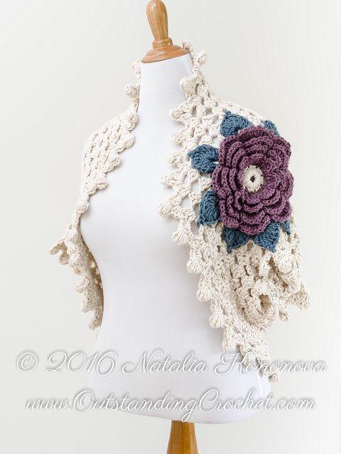 Crochet Bolero Shrug Pattern for sale from Outstanding Crochet | pil ...