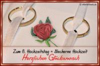 Zum 8 Hochzeitstag Blecherne Hochzeitstag Herzlichen Glückwunsch