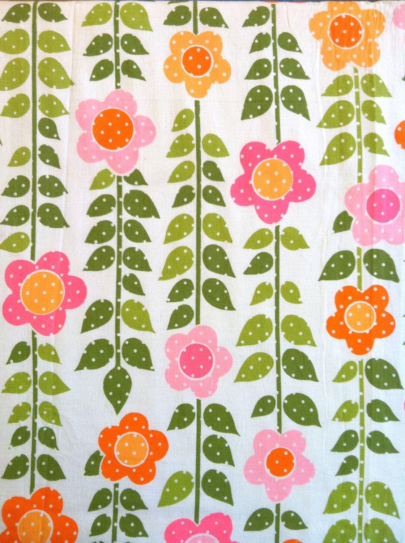 Vintage Fabric // Flower Power | Vintage Fabric | Pinterest | Muster ...