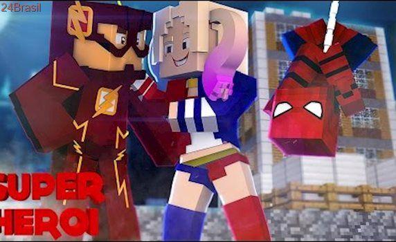 Minecraft : SUPER-HERÓI - ARLEQUINA CAUSANDO CIUMES !! #17