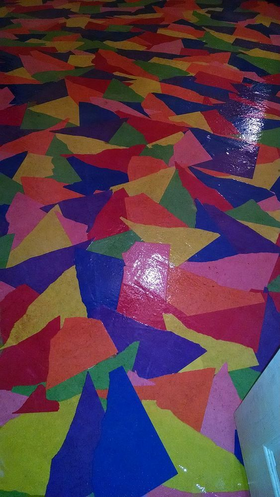 Colored Paper Floor In You Room