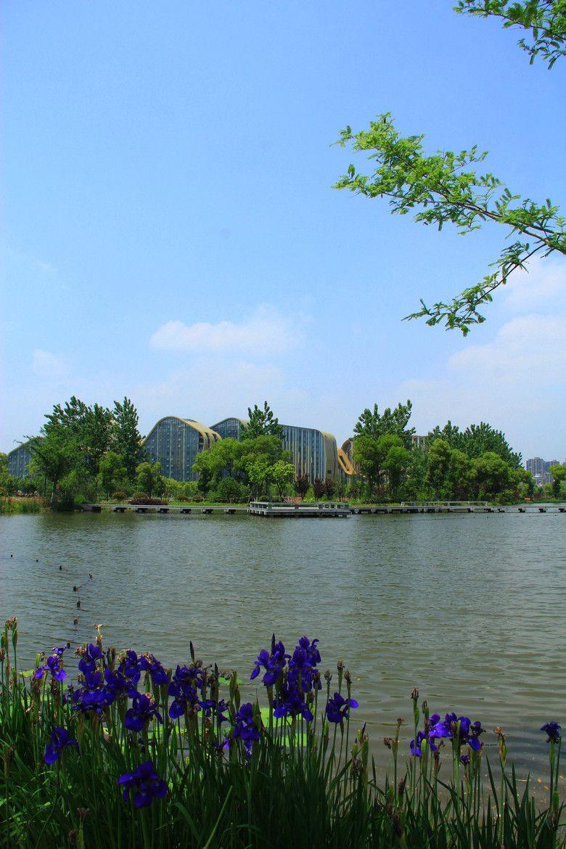 Beautiful view of Baima Lake in Binjiang District of Hangzhou  more information at hicenter.com