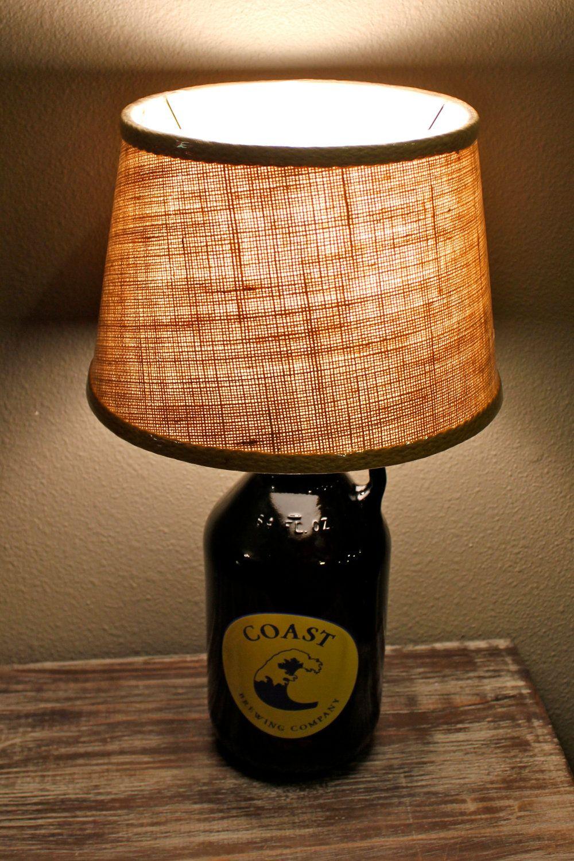 Custom BEER GROWLER LAMP Great Gift Idea