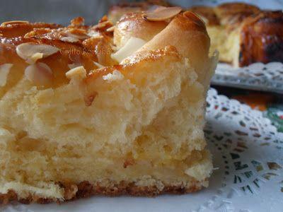Csilla konyhája: vajas marcipános kelt sütemény