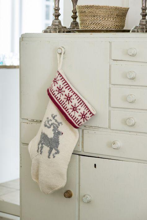 Nordic Christmas with Novita, Christmas stocking made with Novita Joki yarn #novitaknits #knitting #knit https://www.novitaknits.com/en