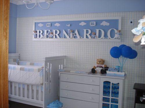 Nombres de cartelera fotos habitacion de bebesitos for Decoracion para bebe varon