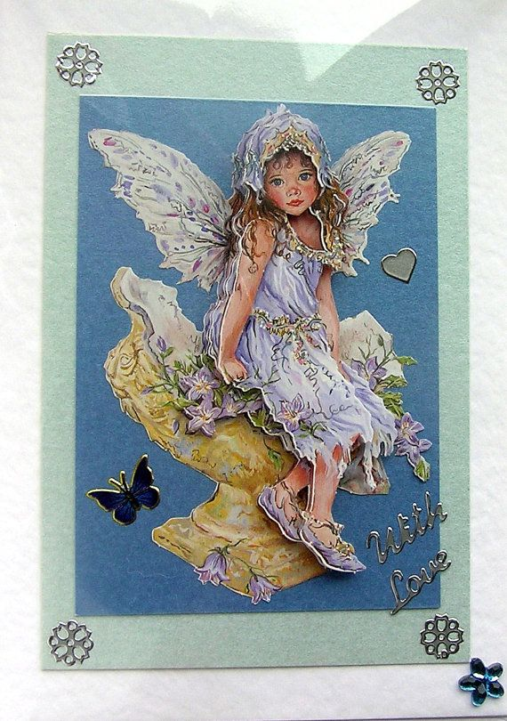 Day Dreaming HandCrafted 3D Decoupage Card  With by SunnyCrystals, $3.55