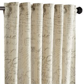 Amelie Scripted Panel 108 Curtains Natural Curtains Long