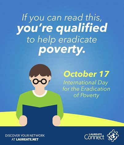 #Education is one way to help those in need. Contribute by donating #books to institutions in need or by sharing this post to raise awareness. #InternationalDayForTheEradicationOfPoverty #Laureate