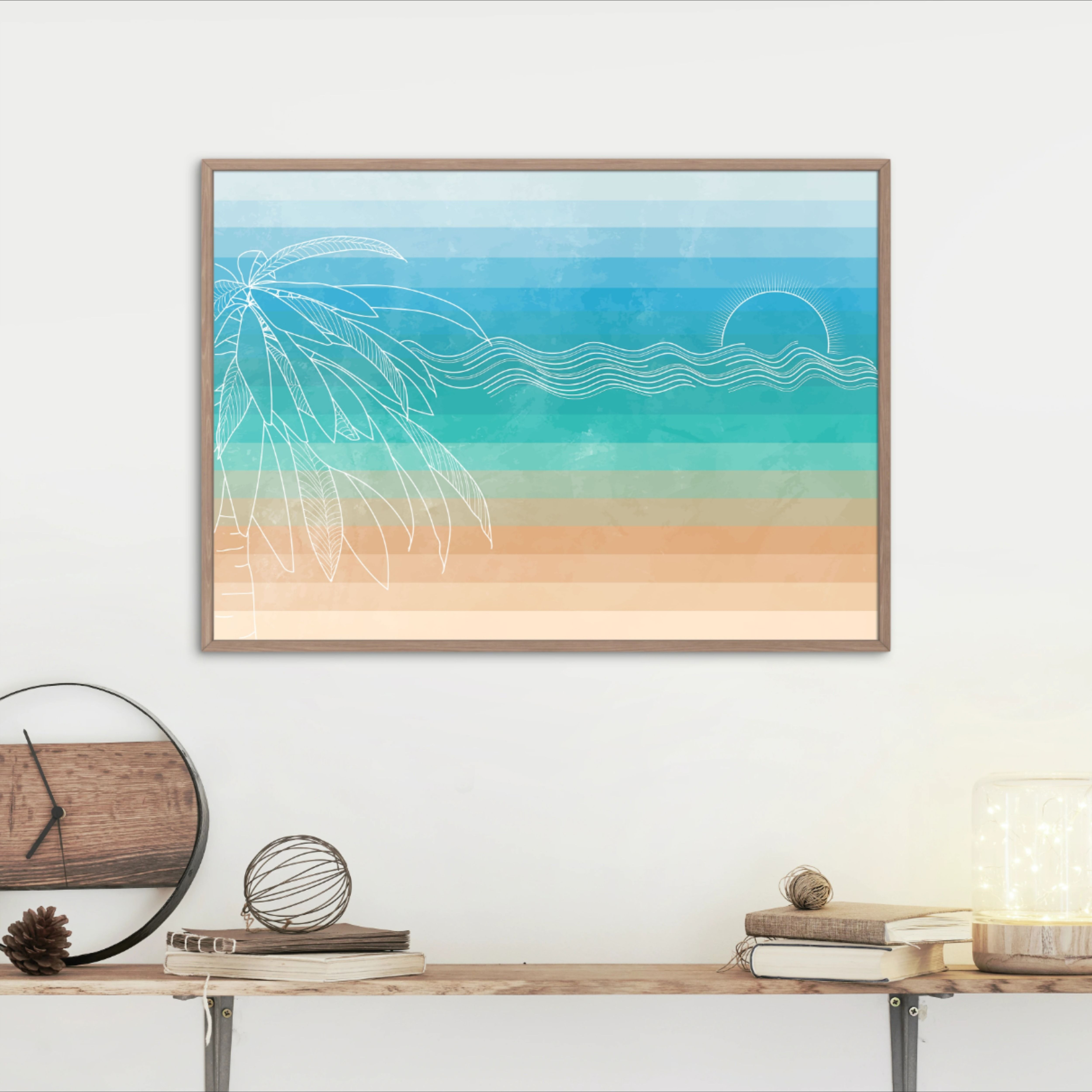 The Beach Abstract Digital Wall Art Digital Download Etsy Modern Printable Wall Art Digital Wall Art Art Gallery Wall