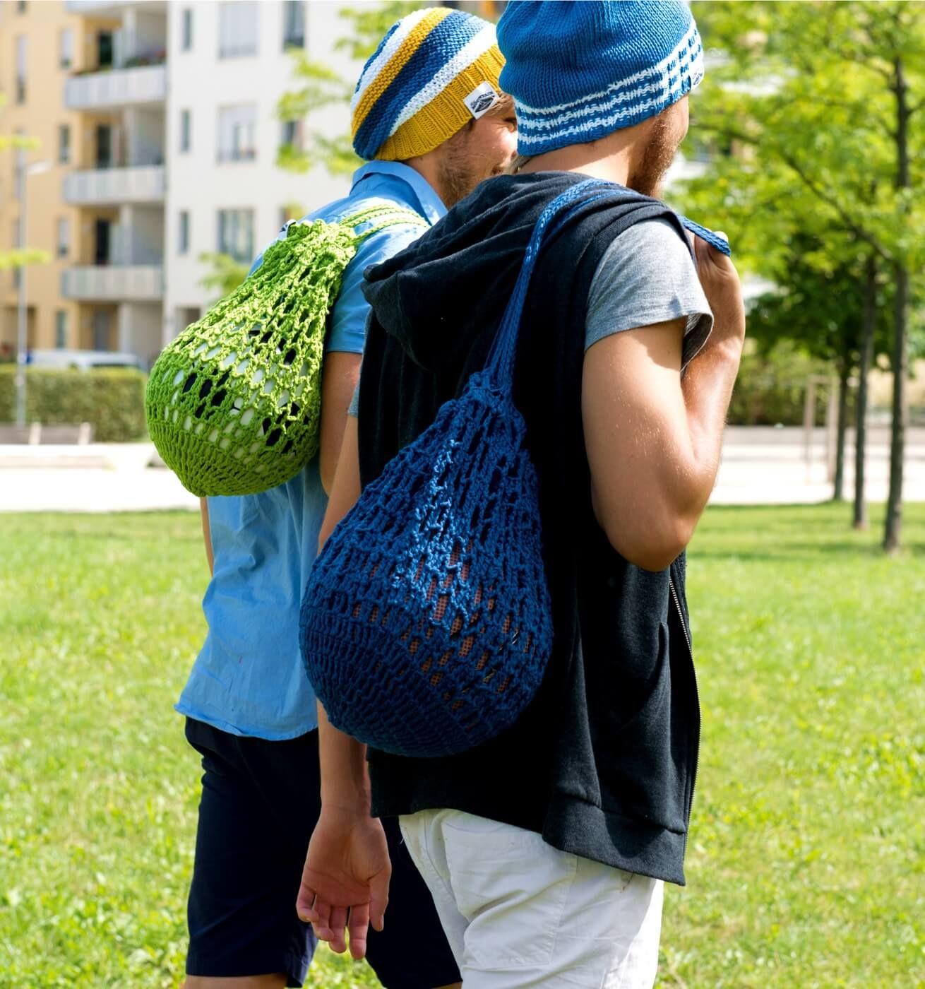 Gehäkeltes Ball-Netz - kostenlose Häkelanleitung | Häkeln im ...