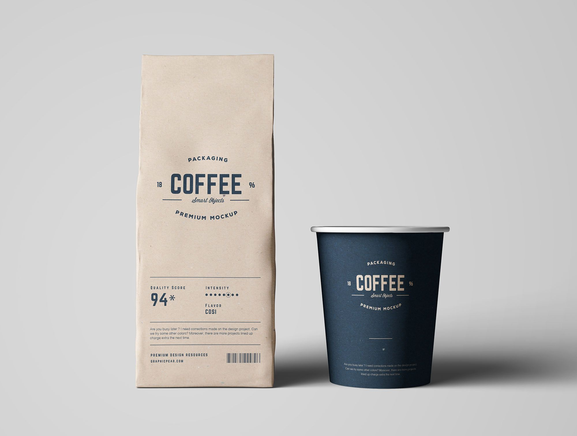 Download Coffee Package Mockup Coffee Packaging Coffee Cafe Logo Design