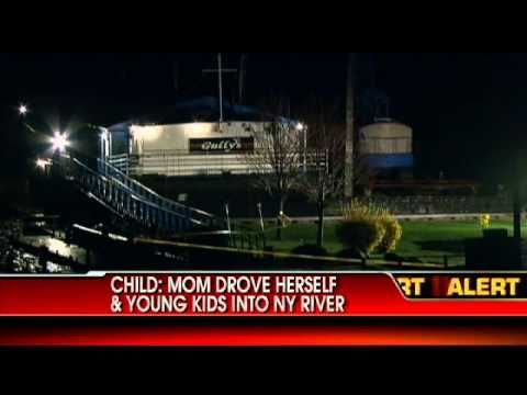 Firefighters Mom Drove Car Into River With Her Three Kids After Fight A Three Kids Firefighter River