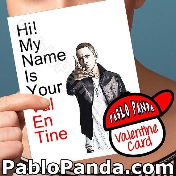 Valentines Card Eminem Funny Valentine Cards Slim Shady Valentine