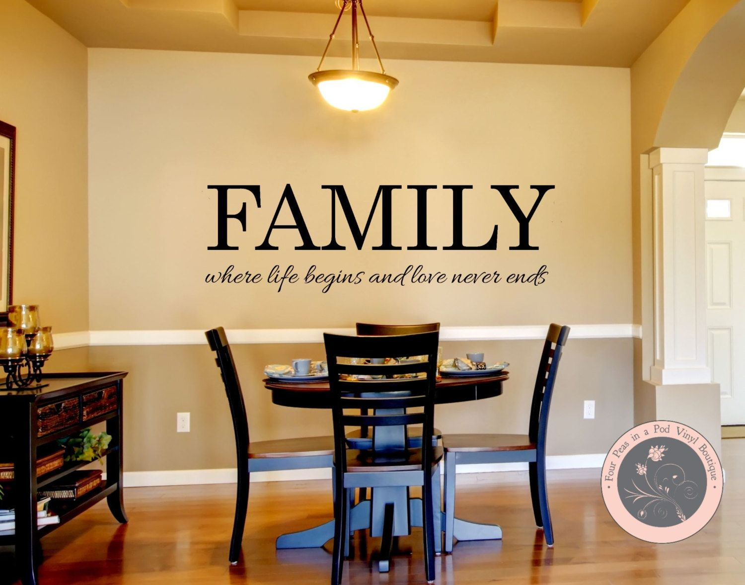 Family Wall Decals - Family Where Life Begins and Love Never Ends ...