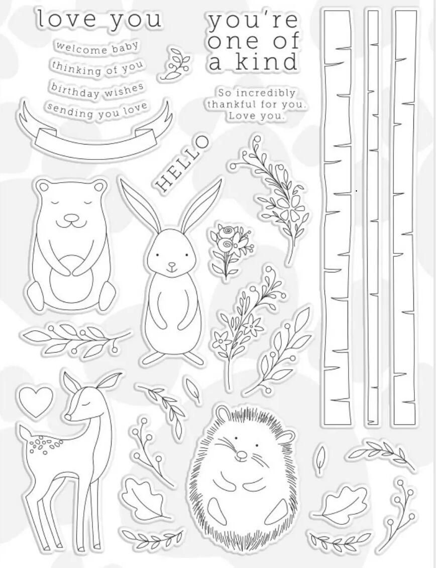 Rubber Stamp for DIY Card Making Decoration Scrapbooking Embossing Album Decor Craft Happinter Easter Bunny Potted Plant Silicone Clear Stamp