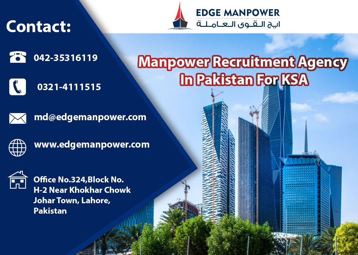 KSA Manpower Recruitment Agency in 2020 Recruitment