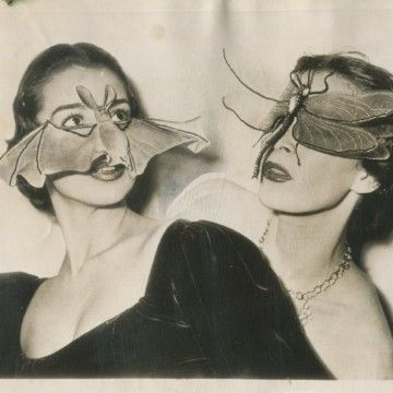 Bat And Insect Masks Paris 1950 Weird Vintage Creepy Vintage Vintage Photos