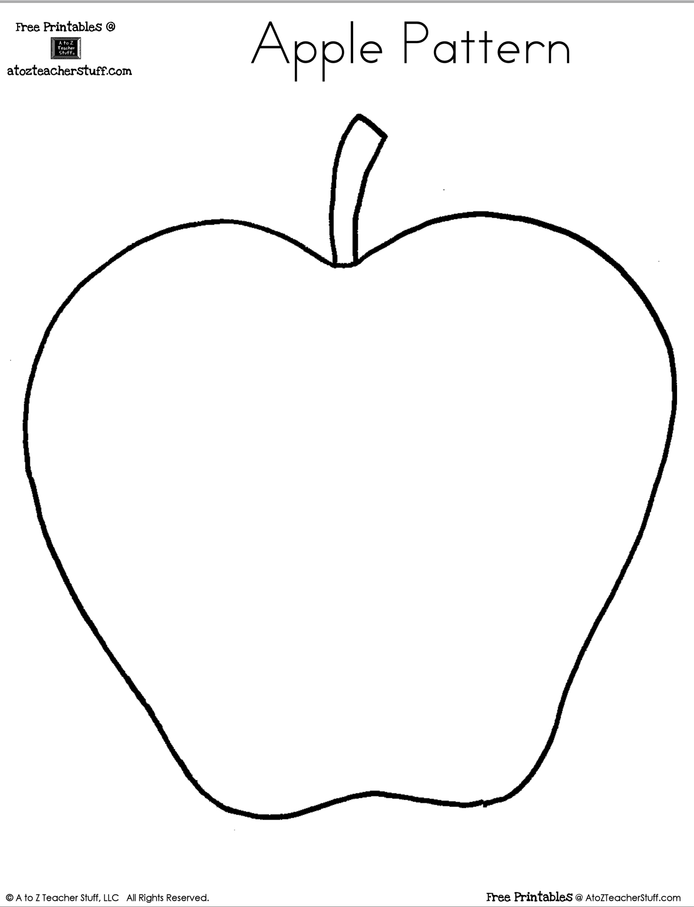 Blank Apple Writing Page Or Shape Book Free Printable