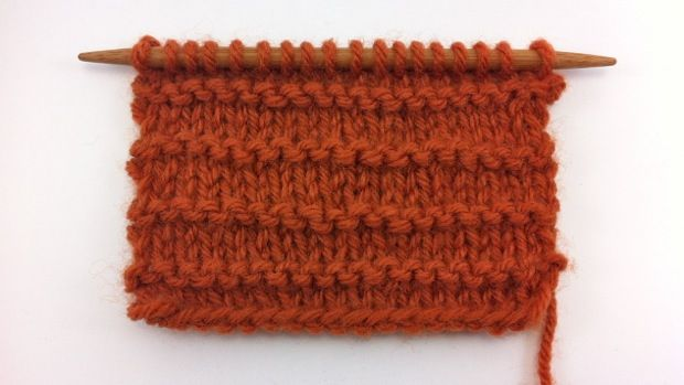 The Purl Ridge Stitch Pattern Consists Of Alternating
