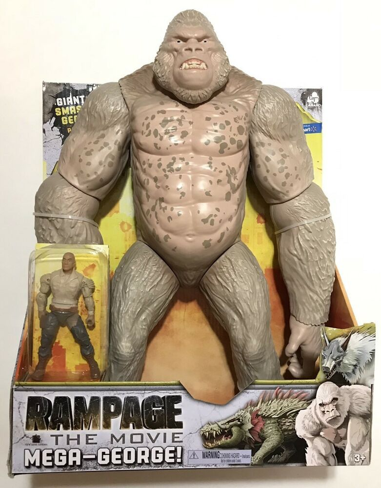 Rampage 16 Mega George Gorilla Brown Action Figures Toys