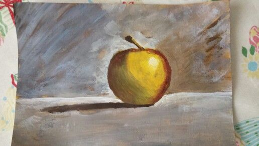 Still life apple.  From Will Kemp art school Web tutorial