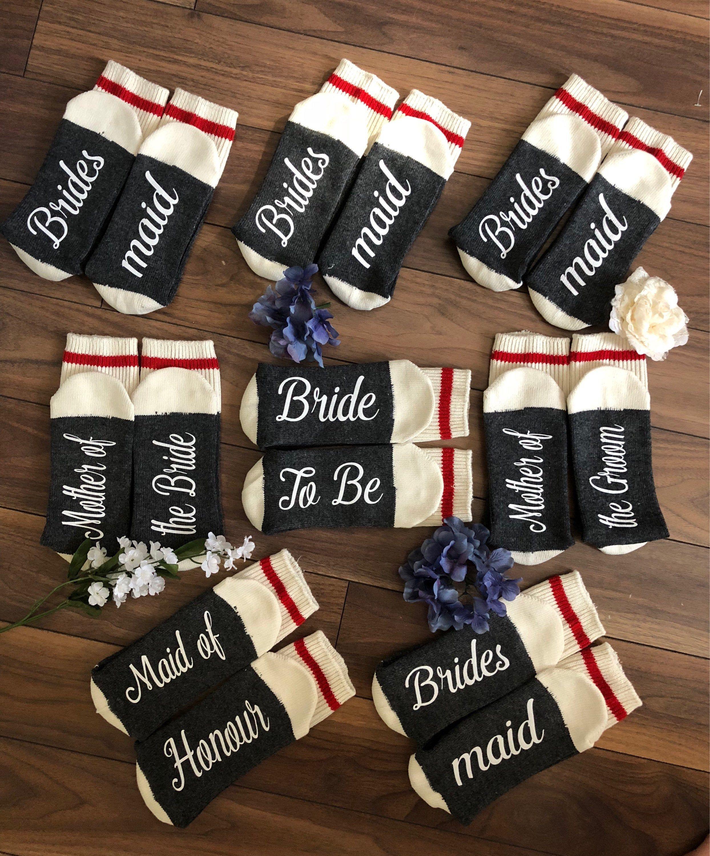 Bridesmaid gifts bride socks bridal party proposal gift
