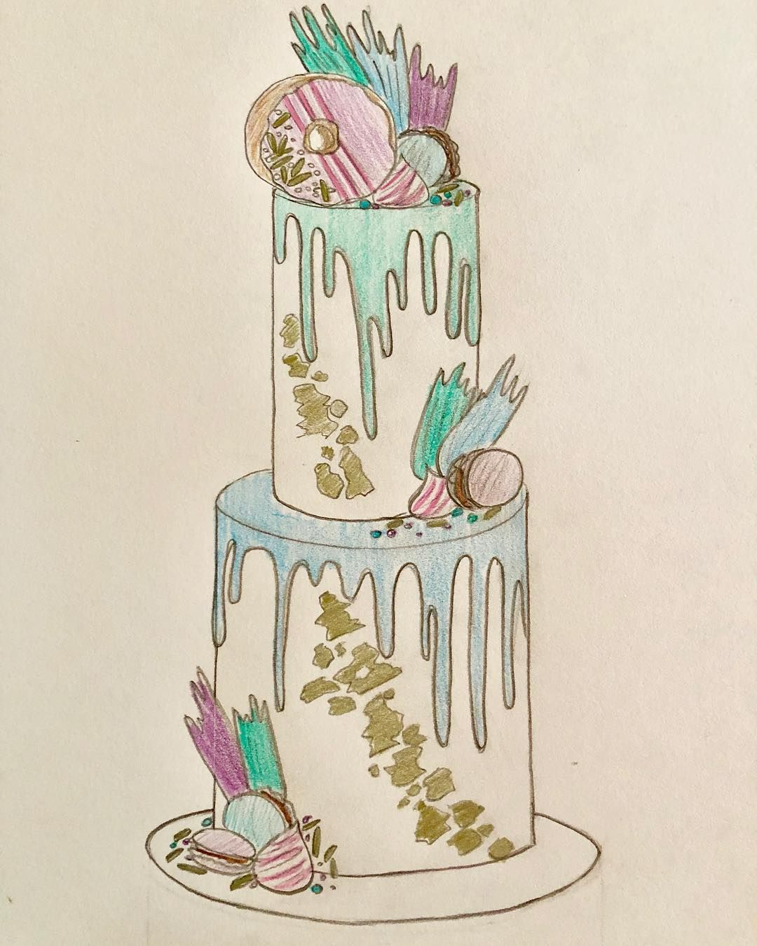 Pin By Amy Newnham On Dean Cake Ideas Cake Sketch Wedding Cake Illustrations Cake Sketch Drawings