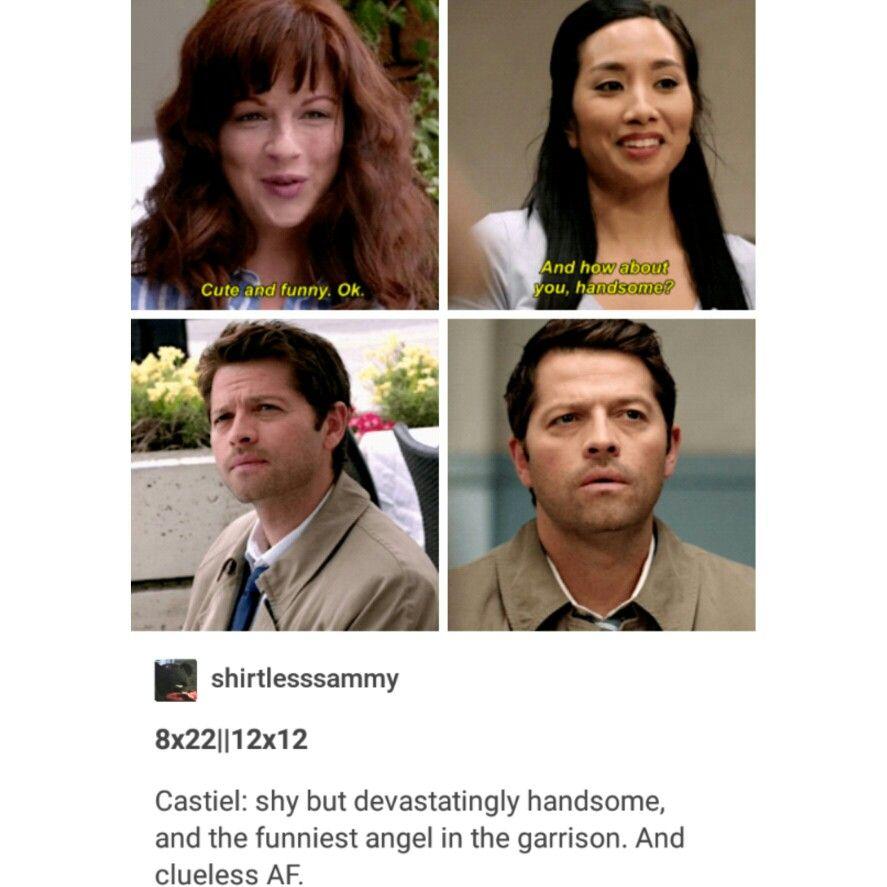 supernatural tumblr textpost castiel cas funny lol