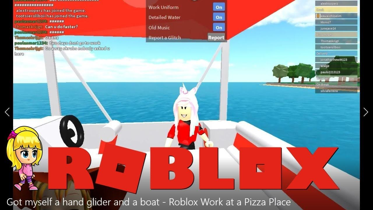 Got Myself A Hand Glider And A Boat Went To An Island And Found Treasur Roblox Pizza Place Boat