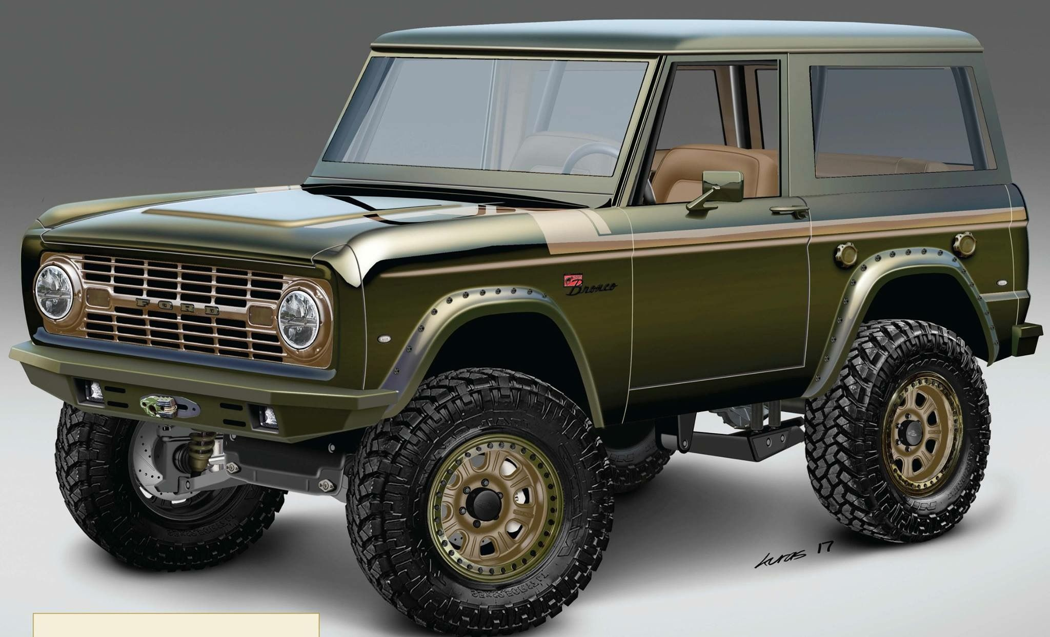 Modern Tech Paired With Sweet Retro Aesthetics Nice Paint Job Ford Bronco Classic Ford Broncos Early Bronco