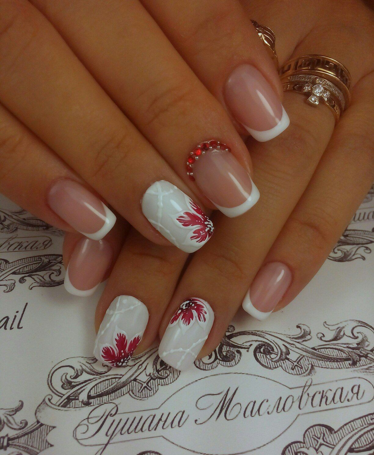 Nail Art #2438 - Best Nail Art Designs Gallery | Flower nail art ...