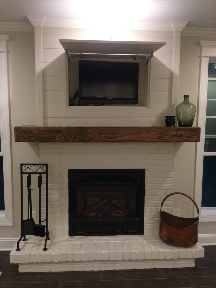 Shiplap On A Fireplace Google Search White Brick Fireplace Home Fireplace Fireplace Remodel