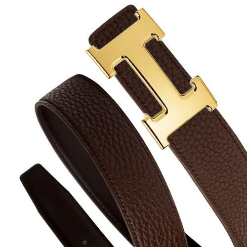 69d1a91796c2 HERMES Hermes belt reversible black   glossy chocolate brown 32 mm and gold  H buckle H052000CAAC Bock scarf x there classic men