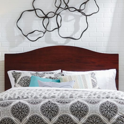 Features Compatible With Apollo Platform Bed Sold Separately Headboard Fits Standard Metal Frames With Th Panel Headboard Headboard Camelback Headboard