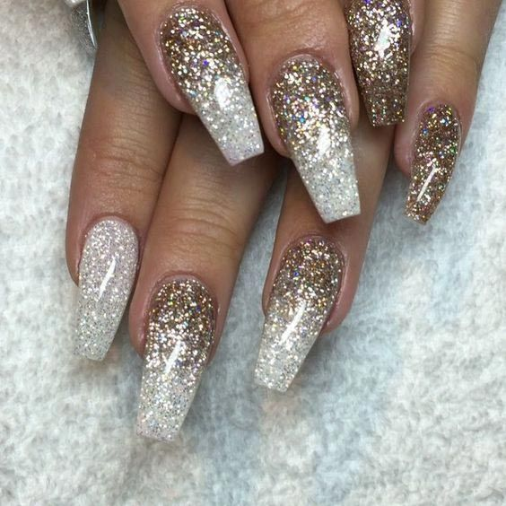 35 easy glitter nail art ideas you will love to try sparkly 35 easy glitter nail art ideas you will love to try prinsesfo Gallery